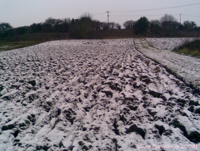 Farmland after ploughing